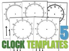 Malimomode.com - free downloadable clock templates for telling time!