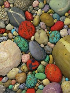 Crazy​ Pebbles of a Different Colour...❤  Geology Wonders