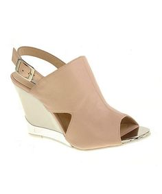 Take a look at this New Nude Sorriso Cutout Wedge by Kristin Cavallari on #zulily today!