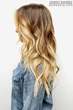 Perfect golden blonde color melt