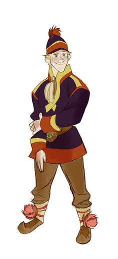 kristoff concept art! Looks like Ron from Kim Possible!
