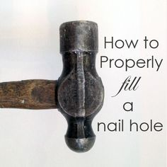 DIY Tips to Fill Nail Holes in the Wall | Nail holes and Fill nail ...