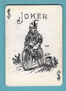 Single Swap Playing Card Antique Joker King Jester HAT Bicycle 808 Vintage Rare | eBay
