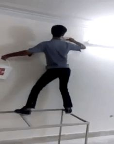 #1 Rule of Painting: Don't Paint & Dance !!!  http://www.boredpanda.com/17-painting-incidents-fails-more-cool-stuff-bonus-3-mr-bean-masterpieces/