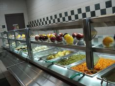 Healthy lunch line in Jackson-Madison County Schools in Tennessee.