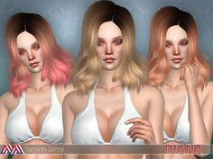 Sims 4 CC's - The Best: Diana Hair by Tsminh3