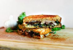Kale and Mushroom Grilled Cheese Sandwich