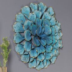 Metal Flower Wall Decor, Metal Flowers, Paper Flowers, Metal Roses, Seashell Art, Seashell Crafts, Oyster Shell Crafts, Pine Cone Crafts, Simple Art