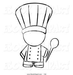 Images For > Cooking Clipart Black And White