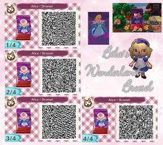 Abenteuer im Broesel-Wonderland - Alice in der Flasche - Wunderland - Fotowand - Bilderwand - faceboard - photo stand - Animal Crossing New Leaf - ACNL - QR - Broesel