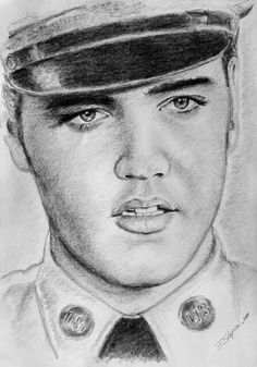Pencil drawing of Elvis.