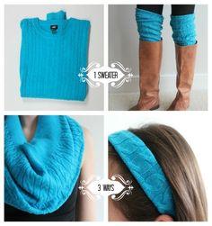 upcyceld sweater, savvy brown, sweater 3 ways