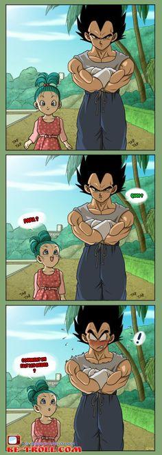 Papa, comment on fait les bébés ? #Vegeta #DragonBallZ