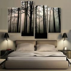 Dark Valley Canvas 4 Pcs Wall Art More