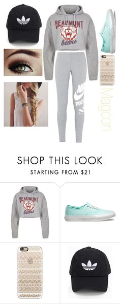 """Jordan's Six Flags"" by emmagrayy on Polyvore featuring River Island, Vans, Casetify, adidas Originals and NIKE"