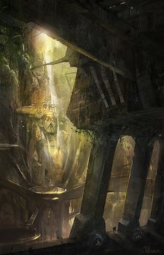 Must-See Concept Art by James Paick - Cruzine Environment Concept Art, Environment Design, Fantasy Places, Fantasy World, Fantasy Concept Art, Fantasy Artwork, Futuristic City, Fantasy Setting, Matte Painting