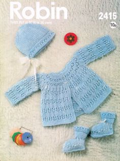 vintage dolls clothes suits 4 ply and dk knitting pattern 99p 225