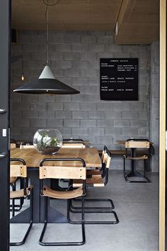 concrete in the dining room #decor #industrial #diningroom