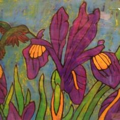 Maggi Rhudy Iris and Hummingbird 2011