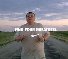 New Nike Ad, 'Find Your Greatness - Jogger'. Props to Nike for this commercial! How Do You Find, Just Do It, Michelle Lewin, Nike Outfits, Weight Lifting, Weight Loss, Grand Prix, Cannes, Jogging