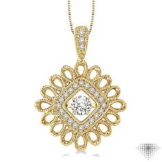 Style #: 69125FHPDYG | 1/3 Ctw Diamond Emotion Pendant in 14K Yellow Gold with Chain | Price: $1,215