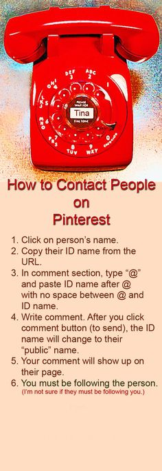 How to Contact Someone on Pinterest - how to tag someone on pinterest - for some reason it won't let me tag you though Tamela!!!