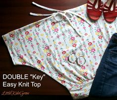 "Tutorial Tuesdays: Double ""Key"" Quick Knit Top - Little Kids Grow"