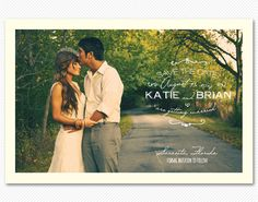 Love the postcard idea for a save the date. Really like these fonts as well.
