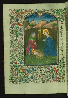 Holy Family  Text: Hours of the Virgin: Prime - Book of Hours-Bruges-W246