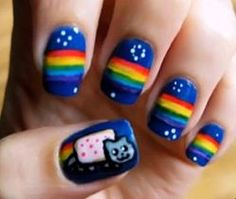 nyan cat nail tutorial! EPPIIICCCC!!!