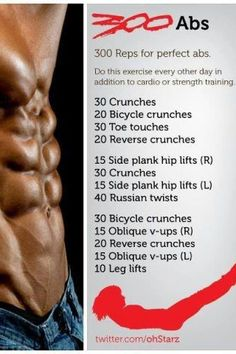 Serious abs workout.
