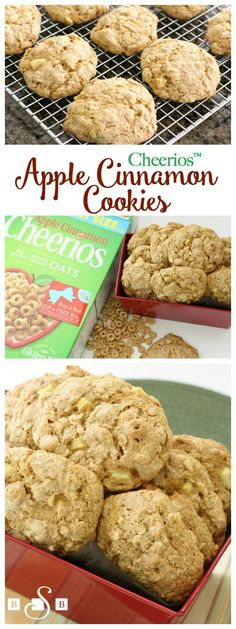 Cheerios™ Apple Cinnamon Cookies - - Butter With A Side of Bread Apple Cookies, Cinnamon Cookies, Cupcake Cookies, Apple Desserts, Apple Recipes, Cookie Recipes, Apple Cinnamon Cheerios, Cinnamon Apples, Cheerios Recipes