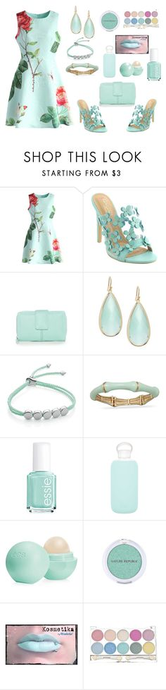 """""""Mint"""" by siriusfunbysheila1954 ❤ liked on Polyvore featuring Chicwish, New Directions, Panacea, Monica Vinader, BillyTheTree, Essie, bkr and Eos"""