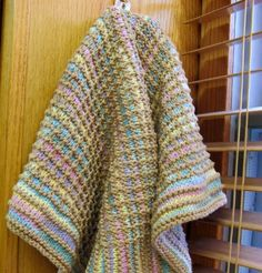a565a3f84f5 3 Sleeves to the Wind  knit Gridded Towel pattern Main Colors
