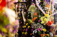 "Ana Beatriz Barros and Karim El Chiaty, Mykonos, Greece. ""The flowers inside the reception venue."""