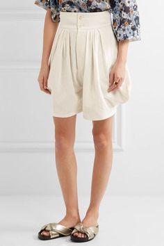 Chloé - Cotton And Linen-blend Shorts - White - FR38