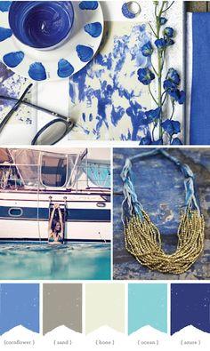 Color palette: nautical by Dance Diva Colour Pallete, Colour Schemes, Color Patterns, Color Combos, Color Palettes, Color Concept, Photo Bleu, Design Seeds, Colour Board