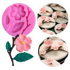 Fleurs Feuilles Silicone Fondant Moule Gâteau Rose Daisy Leaf givrage pâtisserie À faire soi-même moule