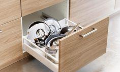 Tiroir de socle avec ustensiles de cuisson *Ikea BROKHULT
