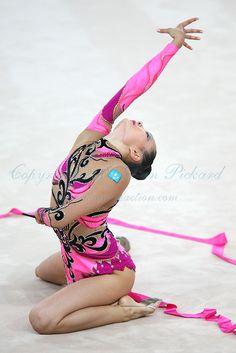 Aliya Yussupova  fameous individual rhythmic gymnast / apparatus ribbon