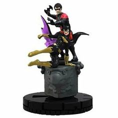 """Dc Heroclix Batman Marquee Figure Pack - Nightwing Batgirl Duo by NECA. $5.97. 1 booster pack. contains 1 Nightwing/Batgirl duo figure. """"Gotham City is under siege and only Batman and his allies can save the day! DC Comics' """"""""New 52"""""""" comes alive with this all-new take on Gotham City's heroes and villains! the Marquee figure will give players a unique double-piece that stars the Nightwing/Batgirl duo!"""""""