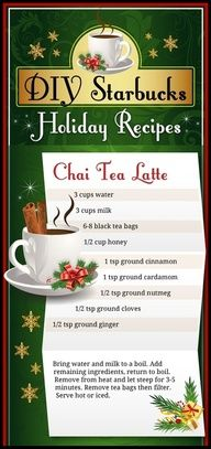 DIY  Chai Tea Latte