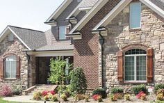 Image result for exterior brick & stone images
