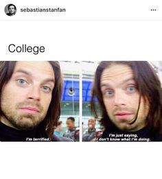 College as described by Bucky {I'm terrified. I'm just saying, I don't know what I'm doing.}