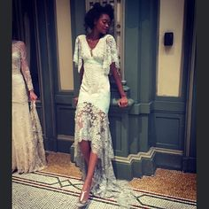 Claire Pettibone Fall 2016 #TheGildedAge Collection   Photo: Symone (Model) Designer Wedding Dresses, Wedding Gowns, Claire Pettibone, Fall 2016, Cool Outfits, Themed Weddings, Bridal, Model, How To Wear