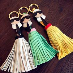 Fashion Edenotto keychain Brands leather tassel Key chain metal Key ring Women Bag charm Pendant Free Shipping