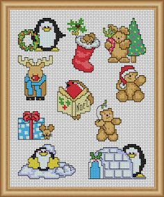 Quick Xmas cuties - PDF Cross Stitch Patterns - Instant Download