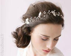 Headband cristaux ruban doré