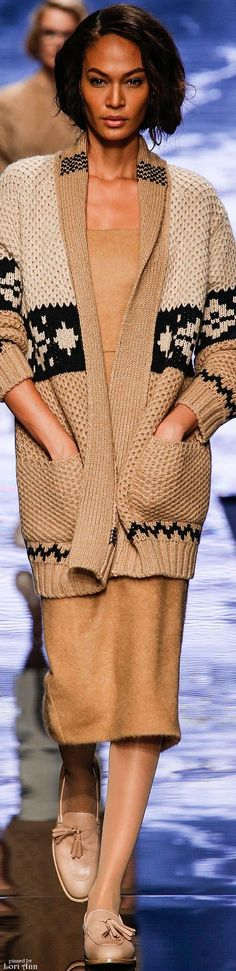 Max Mara Fall 2015 RTW - just not those shoes please. yuck they look like men's shoes.