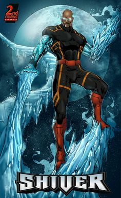Militia: Shiver Art by Verry Woong Coloured by Yuan Cakra Superhero Characters, Black Characters, Comic Book Characters, Comic Book Heroes, Comic Character, Comic Books Art, Character Concept, Comic Art, Character Design